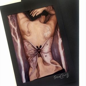 Matted art greeting card with envelope